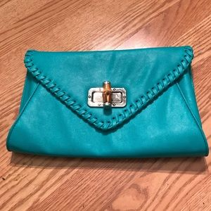 Teal Apt 9 Clutch with optional chain strap